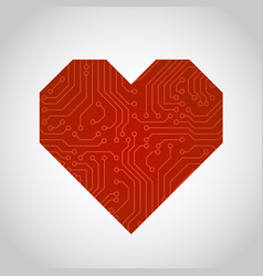 Circuit board or microchip heart vector