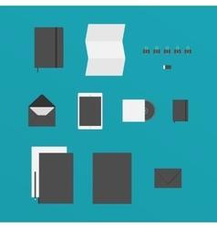 Flat Design of office Stuff vector image