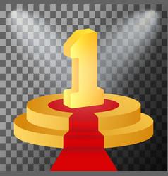 golden number 1 vector image vector image