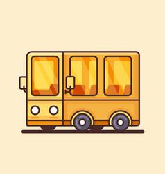 Modern yellow bus icon flat design vector