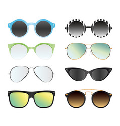 set of sunglasses isolated on vector image