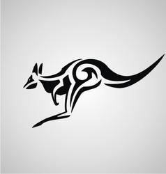 Tribal kangaroo vector