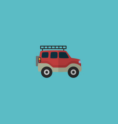 flat icon adventure car element vector image
