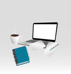 Leafnotebook laptop vector image vector image