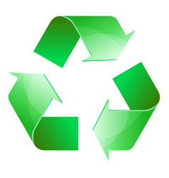 recycle symbol of conservation green icon vector image