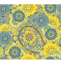 Traditional paisley pattern silk headscarf sample vector image