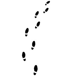 trail of shoes prints vector image