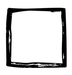 Grunge background frame watercolor ink brush vector image