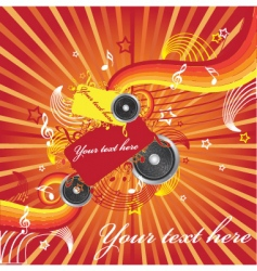 illustration on a musical theme vector image vector image