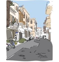 traveling European Greece street sketch vector image