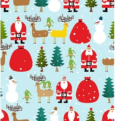 Winter pattern for Christmas and new year Seamless vector image