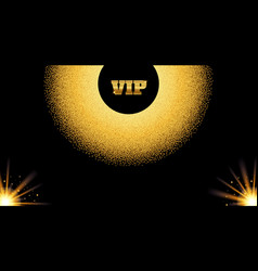 abstract golden vip invitation card with glow vector image vector image