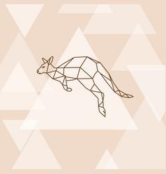 polygonal of australian kangaroo vector image