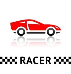 Race car symbol vector image vector image