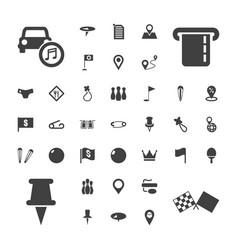 37 pin icons vector