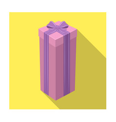 a high gift box for a high and narrow giftgifts vector image