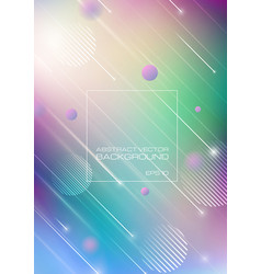 abstract blurred colors background with geometric vector image
