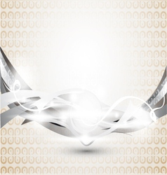 abstract gray background with ornament vector image