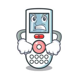 angry remote control mascot cartoon vector image