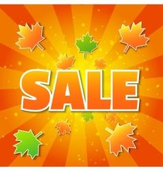 Autumn sale poster vector