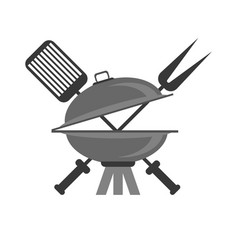 barbeque grey icon vector image