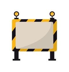 Barricade safety maintenance work vector
