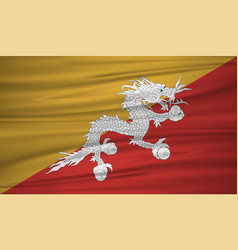 bhutan flag bhutan flag blowig in the wind eps 10 vector image