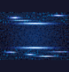 blue circuit board background design for digital vector image vector image