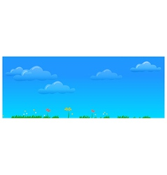 Blue Sky background vector image vector image