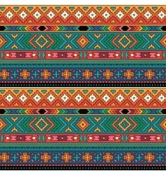 Bright folk ornamental textile seamless pattern vector image