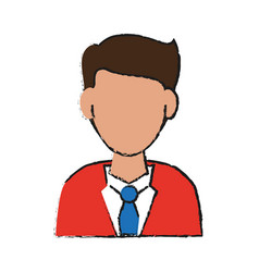 businessman avatar portrait icon image vector image