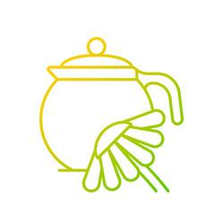 Chamomile tea gradient linear icon vector