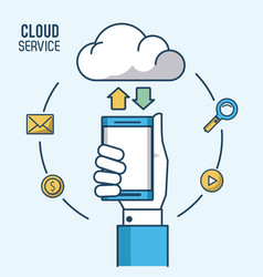 cloud computing service vector image