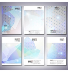 Colorful blue geometric background Brochure vector