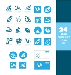 Company logo icon set vector