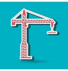 Crane service design vector