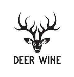 deer wine negative space concept vector image
