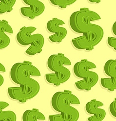 Dollar sign pattern seamless abstract background vector image