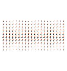 Falling airplane shape halftone grid vector