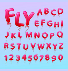 flying balls in the form of letters numbers vector image