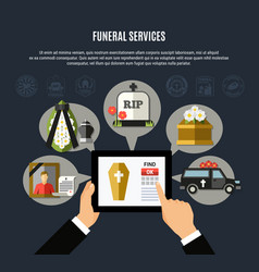 Funeral services composition vector