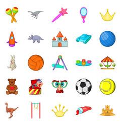 gaud icons set cartoon style vector image