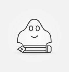 ghost writing concept simple icon vector image