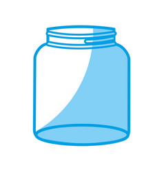 Glass container icon vector