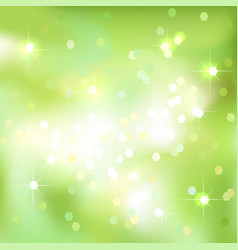 Green abstract background with light spots vector