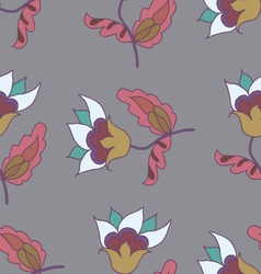 Hand drawn cute flower seamless pattern vector