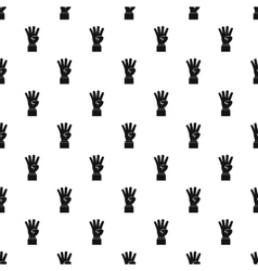 Hand gesture four fingers pattern simple style vector image