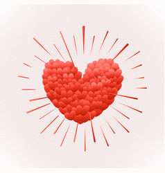 Happy valentines day greeting greeting card vector