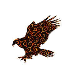 Hawk eagle falcon bird spiral pattern color vector