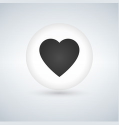 heart icon romantic love symbol grey circle vector image